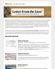 LETTER FROM THE LION - SPRING 2019