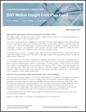 Insight Core Plus - Quarterly Commentary